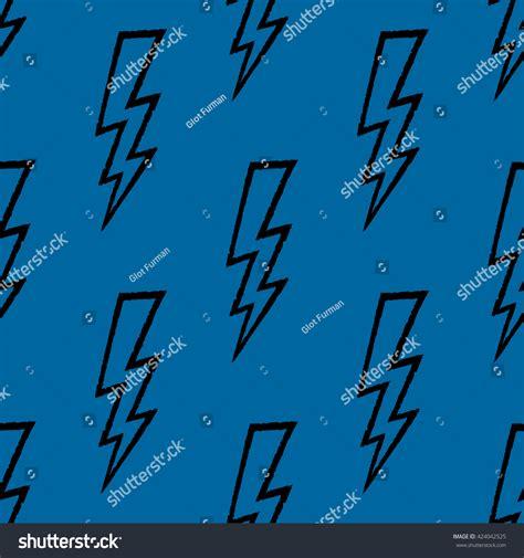 bolt pattern en francais flash lightning bolt doodle seamless pattern stock vector
