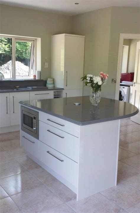 kitchen island worktops high gloss white lacquered door kitchen island with warm