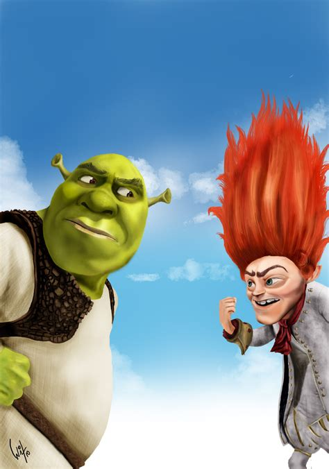 free shrek painting shrek and rumpelstiltskin by witalobdesign on deviantart