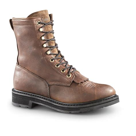 guide gear s 9 quot kiltie leather work boots 607622