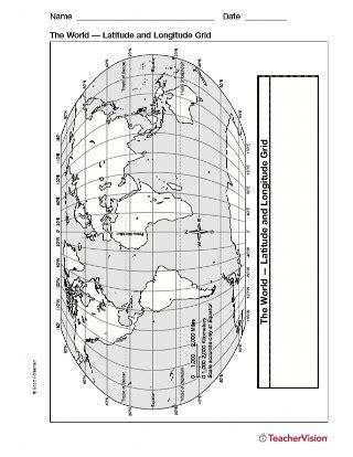 printable latitude longitude ruler latitude and longitude map geography printable 3rd 8th