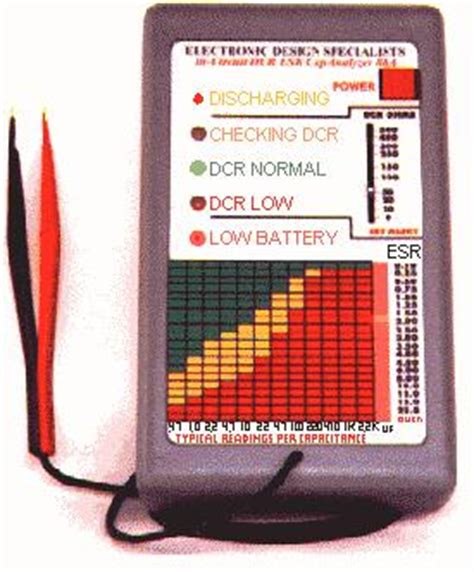 capacitor esr failure methods to test capacitor esr capacitors testing is the most reliable