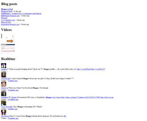blogger user search tweak and trick blogger related content search engine