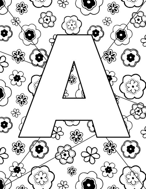 Pictures You Can Color by Letter A Pictures Coloring Page