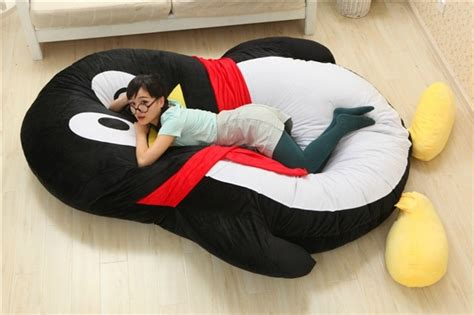 luxury modern cartoon penguin large floor cushion dome