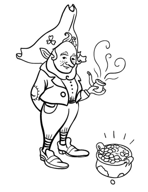leprechaun coloring pages pdf free leprechaun coloring page