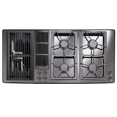 jenn air electric cooktop with grill jenn air jgd8345adb 45 quot gas downdraft cooktop w grill