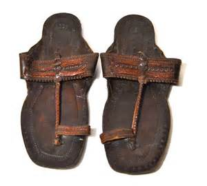 Men s vintage leather embossed indian sandals made in india sz 10 44