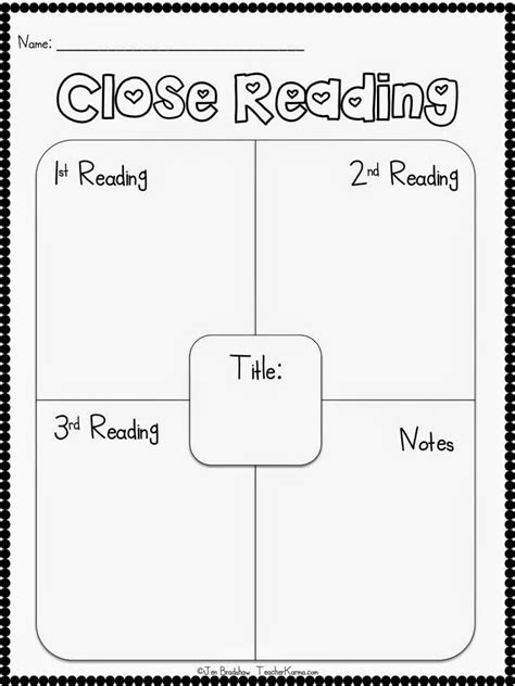 printable homework graphic organizer 25 best ideas about close reading activities on pinterest