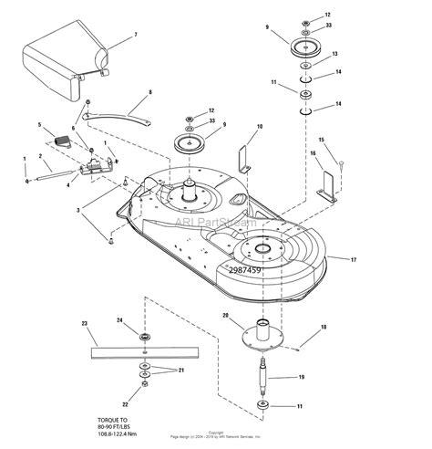 simplicity mower deck diagram simplicity 1696022 42 quot mower deck parts diagram for 42