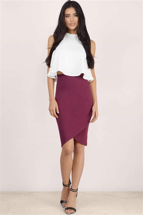 wine colored skirt wine colored pencil skirt dress ala