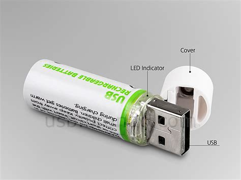 smart charger aa lightors usb aa rechargeable battery