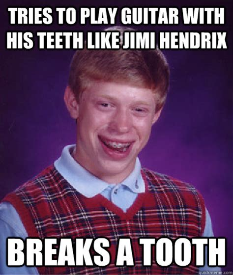 Jimi Hendrix Meme - tries to play guitar with his teeth like jimi hendrix