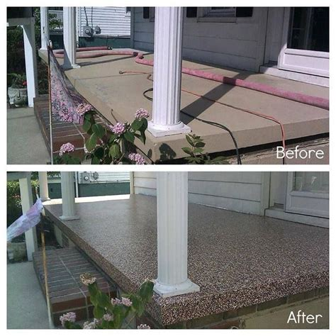 porch and patio paint before and after of cement porch painted with paint