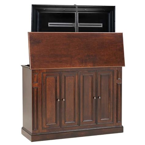 60 tv armoire tv lift cabinet harbor series lift for 60 inch screens