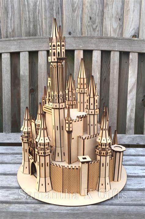 Fairytale Princess Disney style detailed Castle large MDF