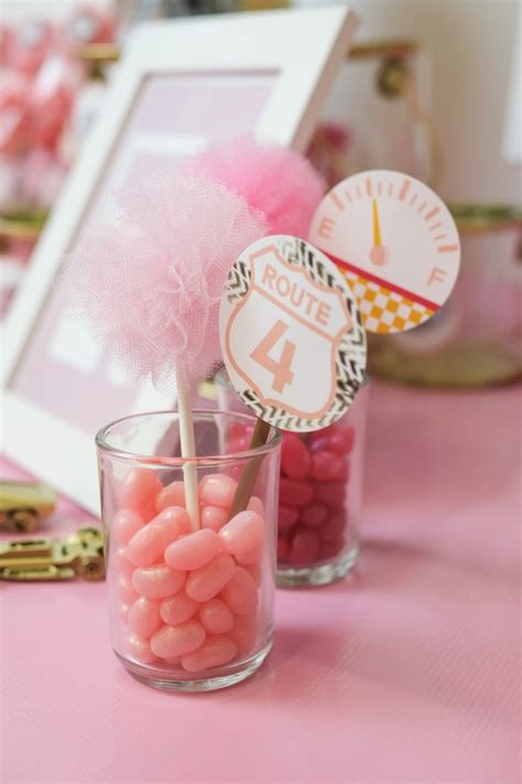 kara s party ideas jelly belly car themed centerpieces