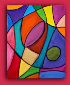 colorful abstract paintings bright colorful original abstract painting by orabirenbaumart