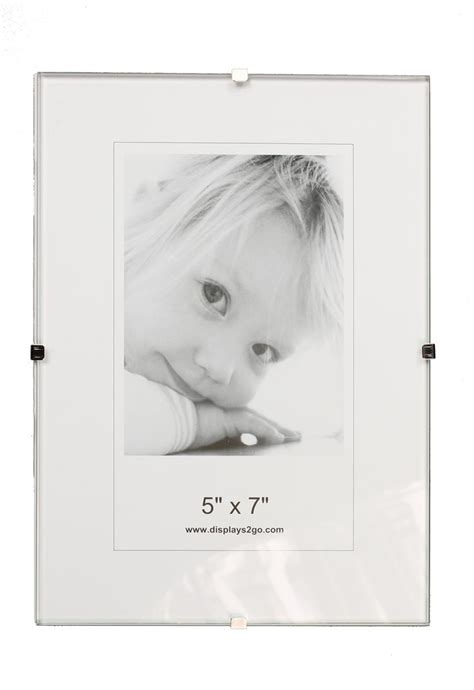 frameless photo frameless 5 x 7 clip picture frame tempered glass