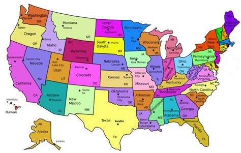 us map states list us map with states and capitals list worksheets