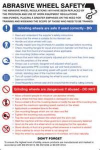 abrasive wheels safety poster