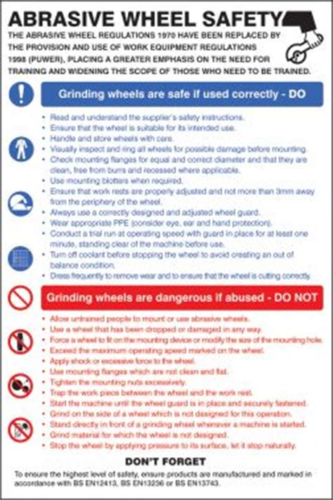abrasive wheels safety poster