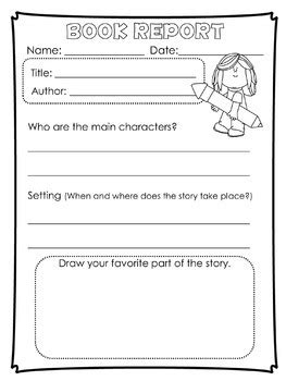 book reports for 1st grade book report templates for kinder and graders by tiny