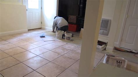 time lapse of a 16 x16 quot ceramic tile installation on a