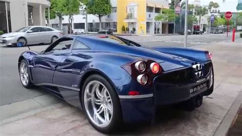 blue pagani blue pagani huayra start up driving
