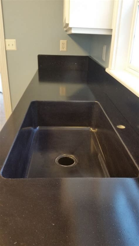 Concrete Countertops Black by Black Concrete Countertops With Integral Sink Including