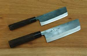 japanese vegetable knife kurouchi nakkiri knife 120mm 150mm