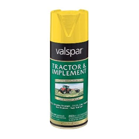 buy the valspar 18 5339 08 72 tractor paint yellow 12 oz spray hardware world
