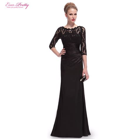 formal long sleeve lace prom dress evening dresses he09882 ever pretty elegant 3 4 sleeve