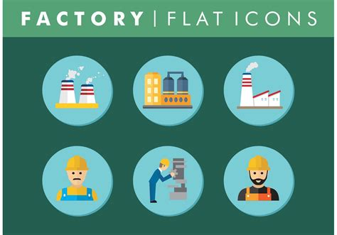 factory icon download free icons flat factory icons set vector free download free vector