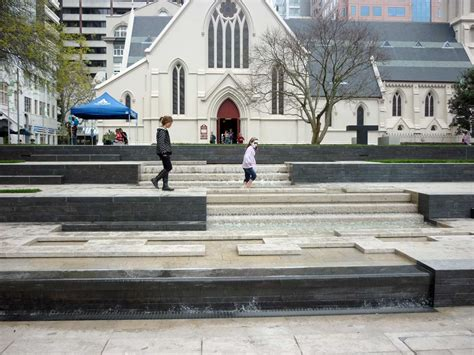 Stairs Design urban fountain on church square landscape architecture 17