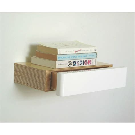 floating shelves and drawers pacco floating shelf drawer birch white bright blue living