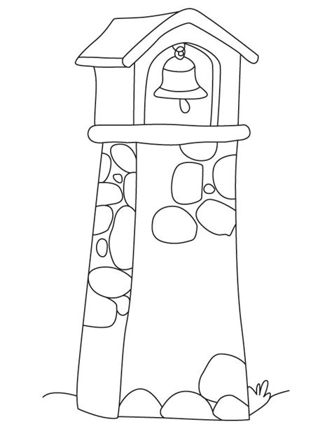Bell Tower Coloring Page Download Free Bell Tower Towers Coloring Page