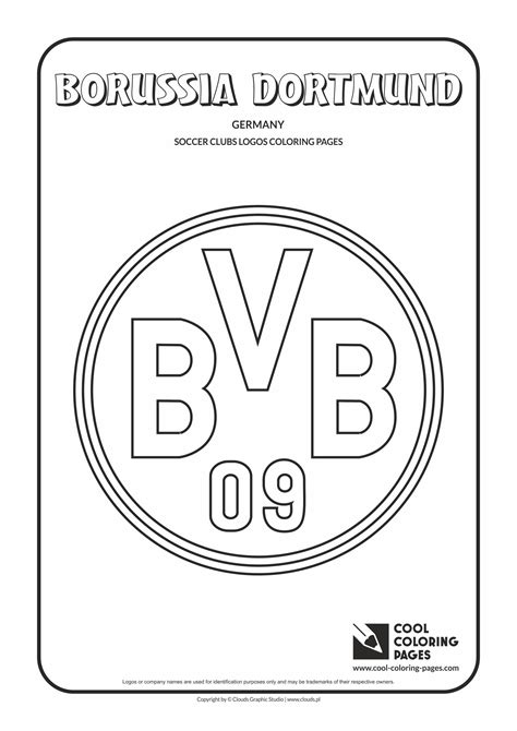 coloring pages of football logos of teams cool coloring pages borussia dortmund logo coloring page