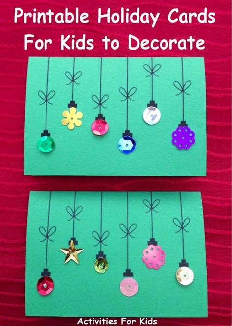 christmas cards ideas preschool cards for to make simple enough for a preschool project free printable from