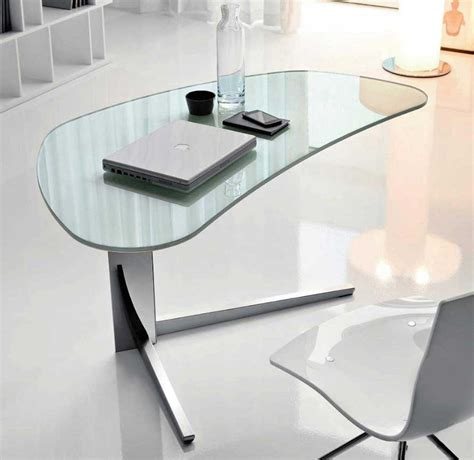 modern desks for home office with unique desk with glass