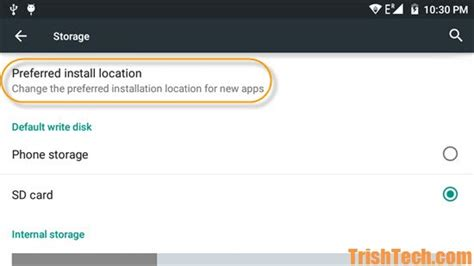change location on android change preferred install location in android lollipop