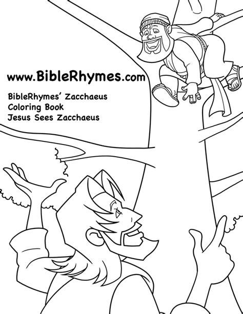 coloring pages jesus and zacchaeus zacchaeus coloring page az coloring pages