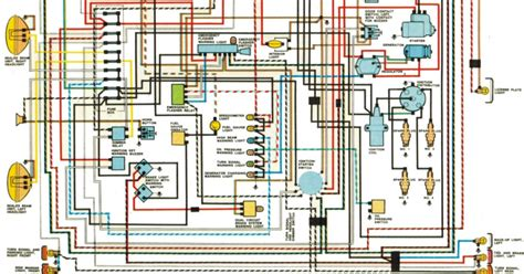 vw beetle wiring harness color coded diagram 50