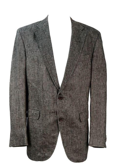 grey patterned blazer grey russet herringbone patterned linen blazer l xl
