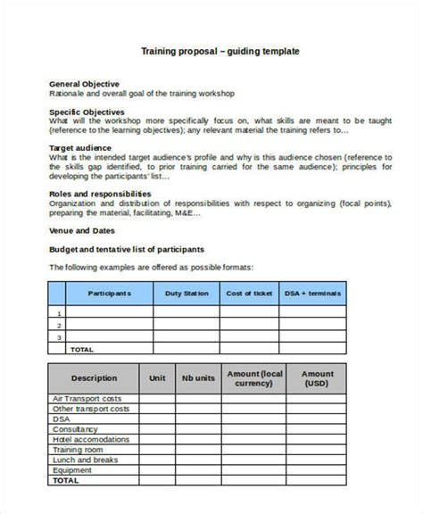 Workshop Project Template Template 16 Exles In Word Pdf