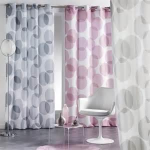 rideau voilage 140x240 cm reflet gris essentielhomedeco