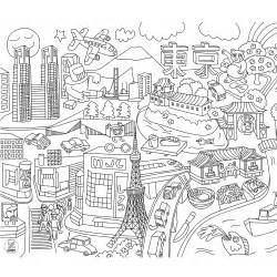city coloring pages to and print for free