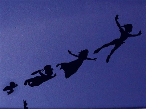 Tinkerbell Wall Murals peter pan shadow wall decals created using peter pan template