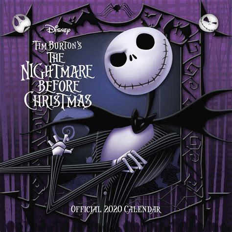 disney tim burtons nightmare  christmas official calendar  calendar club uk