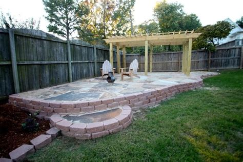 Flagstone Patio With Pergola by Flagstone Patio With Pergola Outdoors